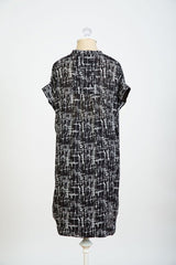 Cybelle - Black White Crosshatch dress Loyal Hana
