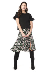 Joey - Black Short Sleeve with Ruffle Loyal Hana