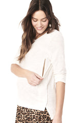 KENDAL WHITE LONG SLEEVE TOP Long Sleeve basic Loyal Hana