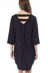 Layla - Black Birds 3/4 sleeve dress 3/4 sleeve dress Loyal Hana