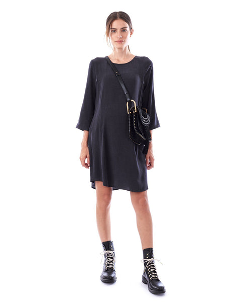 LAYLA - Charcoal 3/4 sleeve dress