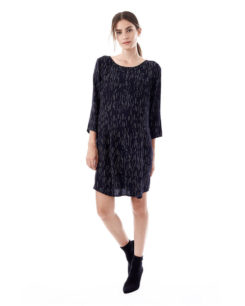 LAYLA - Water Fall 3/4 sleeve dress