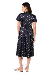 LILY IN NAVY PARIS - FLUTTER SLEEVE NURSING & MATERNITY DRESS dress LoyalHana
