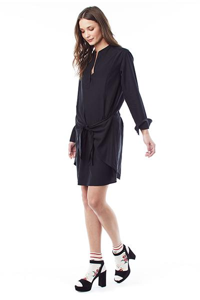 Lucy - Black Wrap dress