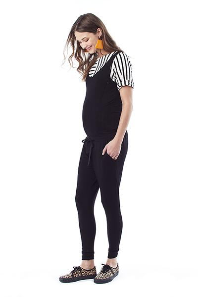MARNI IN BLACK - NURSING AND MATERNITY JUMPSUIT