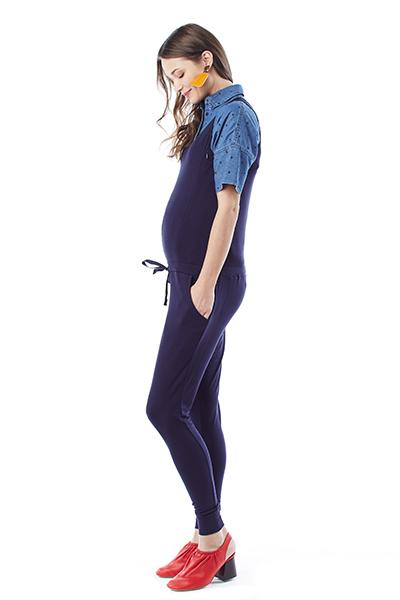 MARNI IN NAVY - NURSING AND MATERNITY JUMPSUIT