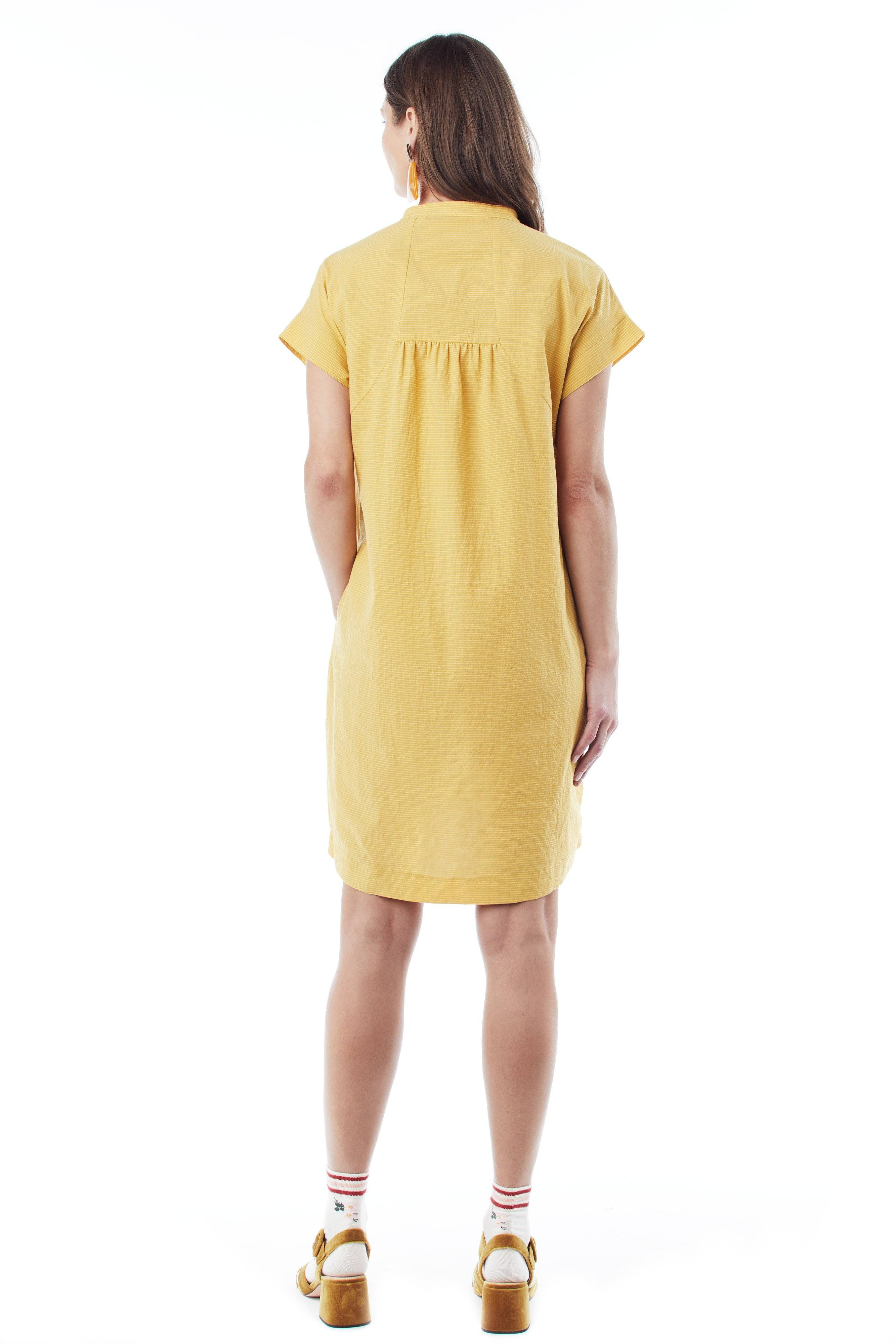 d19f9245b5f21 ... Meet Cybelle: Our Yellow Short-Sleeve Maternity Dress short sleeve dress  Loyal Hana
