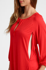 Megan- Red 3/4 sleeve top 3/4 sleeve blouse Loyal Hana