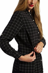 Riley - Black Box Plaid Top long sleeve button down top Loyal Hana