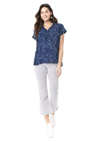 SHANNON- BLUE BOX NURSING AND MATERNITY TOP