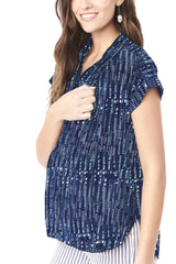SHANNON- BLUE BOX NURSING AND MATERNITY TOP Loyal Hana