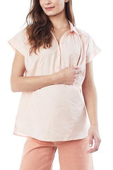 SHANNON- Blush - Nursing and Maternity Top Loyal Hana