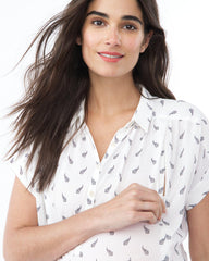SHANNON- White Arrow Nursing and Maternity Top short sleeve blouse Loyal Hana