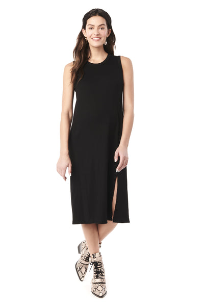 SHARON IN BLACK - NURSING AND MATERNITY SLEEVELESS DRESS