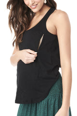 Taylor - Black Nursing and Maternity Tank Tank Loyal Hana