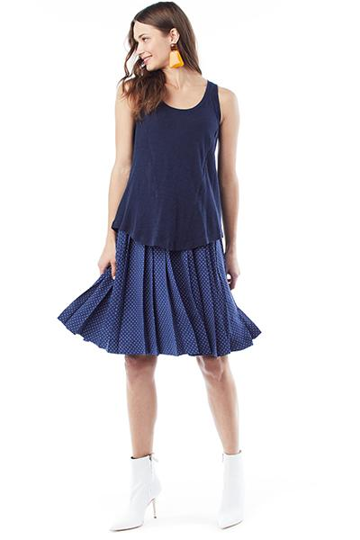TAYLOR IN NAVY - NURSING AND MATERNITY TANK