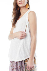 Taylor- White Nursing and Maternity Tank Tank Loyal Hana