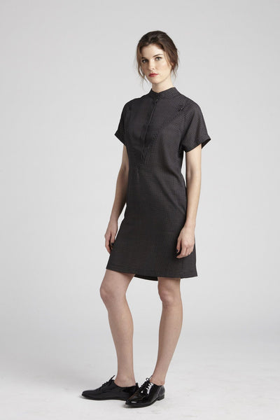 The Erin Short Sleeve Dress - Half Button Down