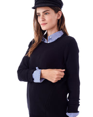 The Wiley Nursing and Maternity Sweater with Side Zipper long sleeve sweater Loyal Hana