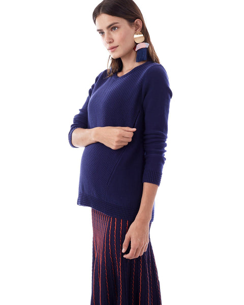 WILEY IN NAVY - NURSING AND MATERNITY SWEATER