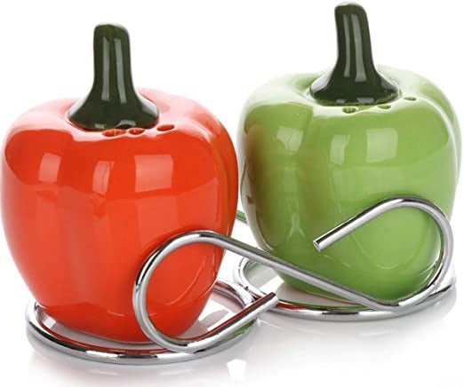 2 Capsicum Dinning Table Cruet Set For Salt , Pepper and  Seasoning