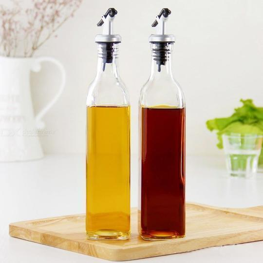 2 Piece Oil And Vinegar Bottle Cruet Set