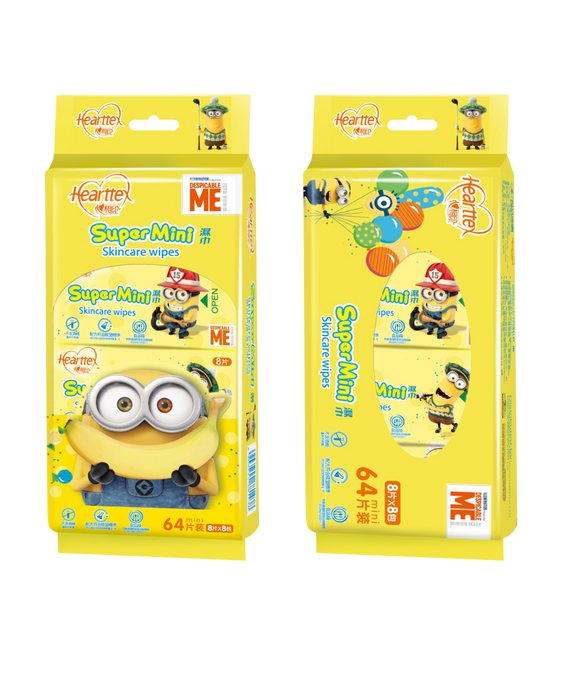 Hearttex -Super Mini Minion Wet Wipes (8 packs)
