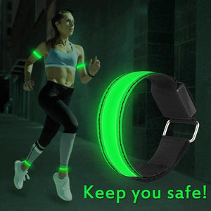 Runner running light (2 packs) rechargeable LED armband reflective running equipment, LED light belt, suitable for joggers and bikers