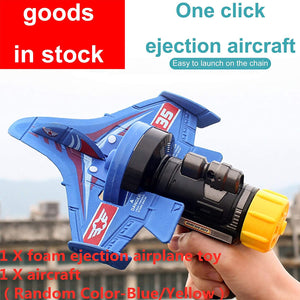 Bubble Catapult Plane Toy Airplane, Children Outdoor Pistol Launcher Gliding Aircraft