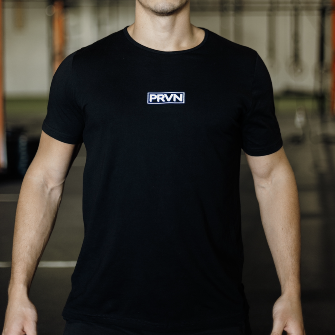 Men's Black Subtle Split Hem T-shirt
