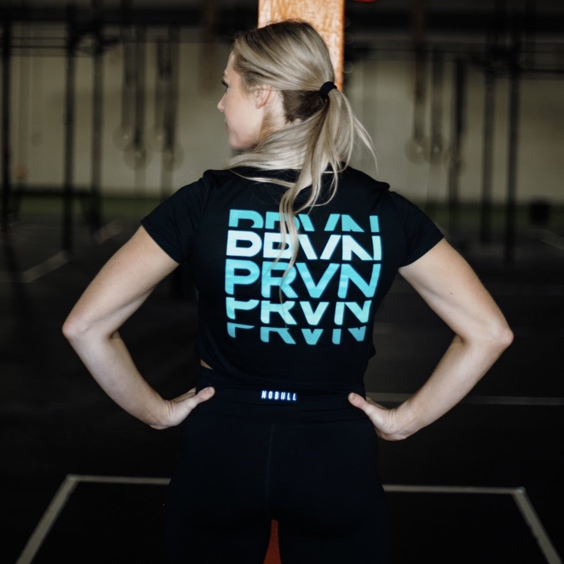 Women's PRVN Black Flow Crop