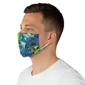 Blue Green Painting Face Mask
