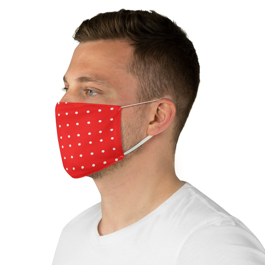 Red Polka-Dot Face Mask