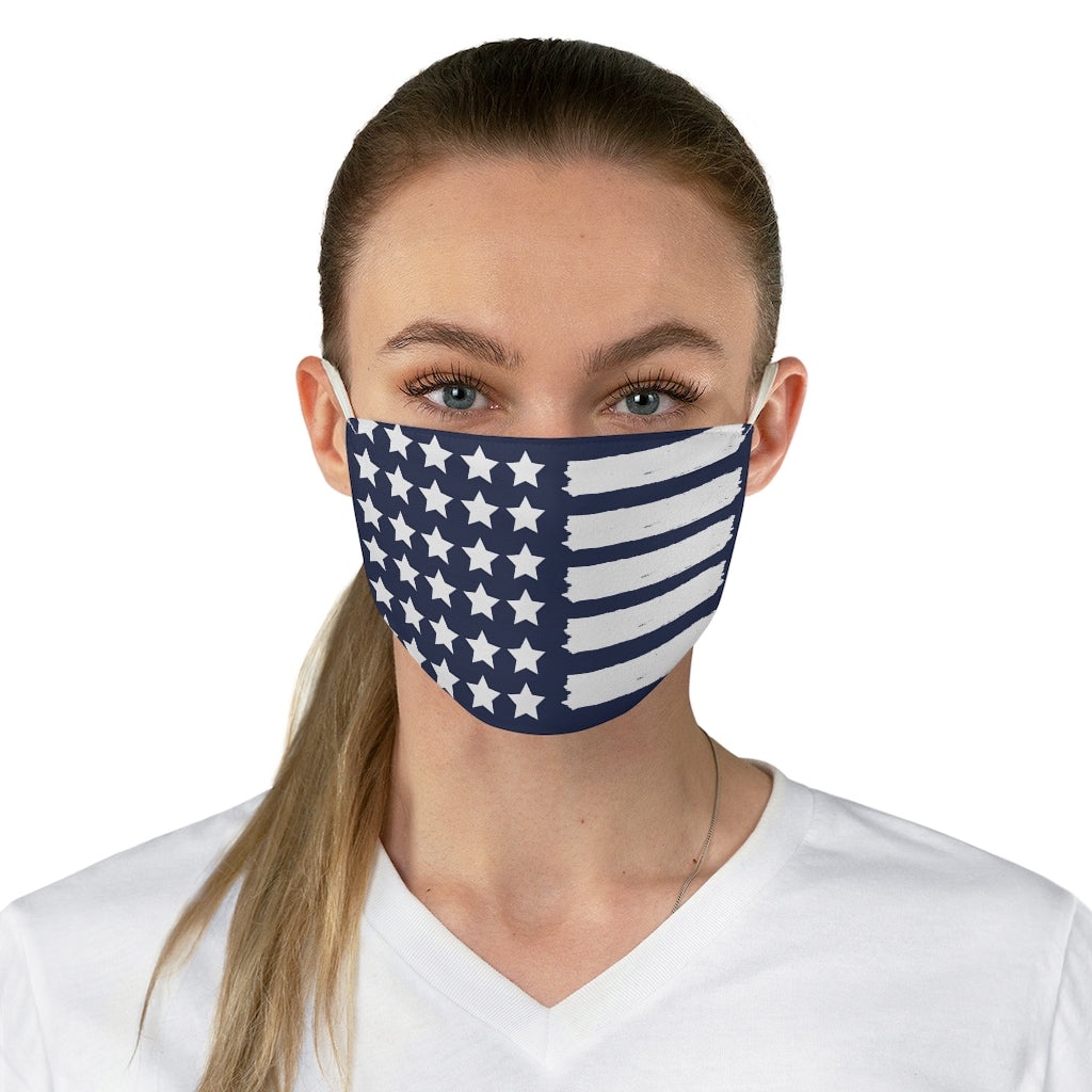 Blue Stars and Stripes Face Mask