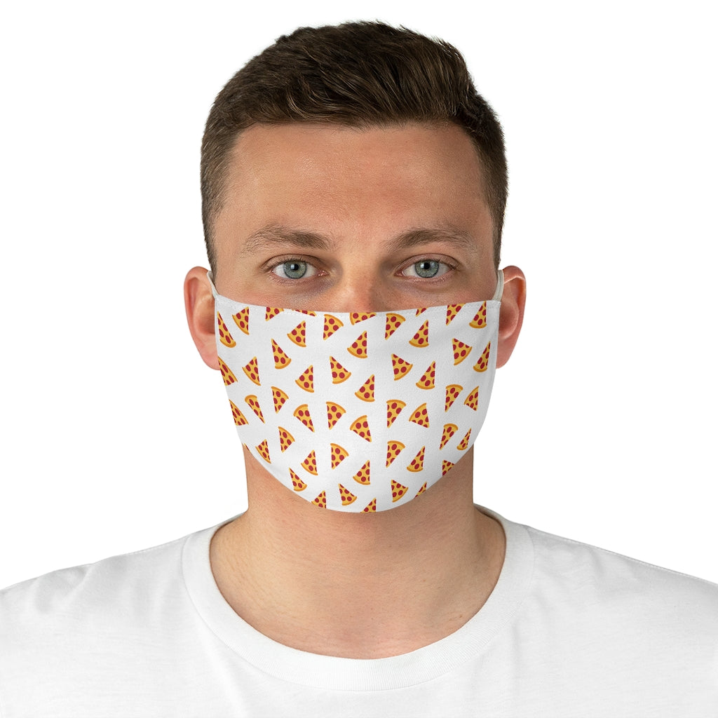 White Pizza Face Mask