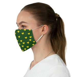 Green and Yellow Heart Face Mask