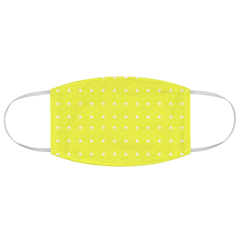Yellow Polka-Dot Face Mask