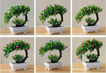 Load image into Gallery viewer, Artifical Pink Rose Bonsai