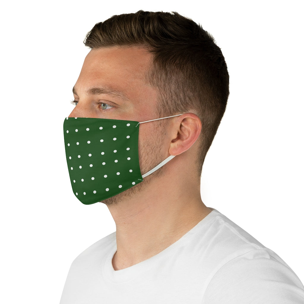 Green Polka-Dot Face Mask