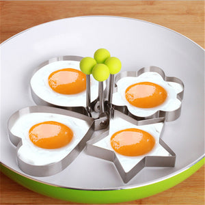 Stainless Steel Molds for Eggs, Pancakes, Omelettes, etc. Different Shapes Available.
