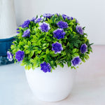 Load image into Gallery viewer, Artificial Potted Blue Flowers
