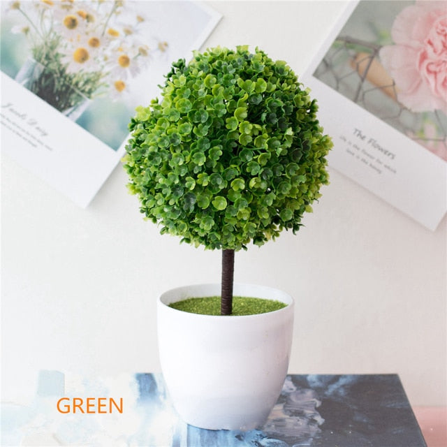 Artificial Green Potted Bonsai
