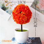 Load image into Gallery viewer, Artificial Orange Potted Bonsai