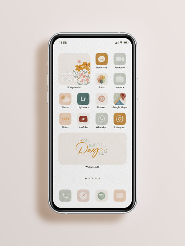 "Iphone App Icons ""Paperlove"" IOS14 Basic"