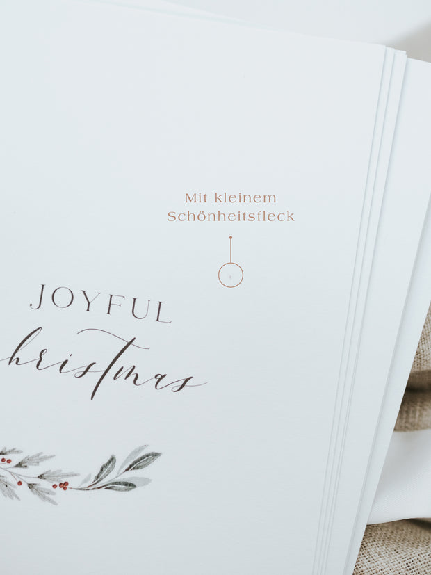 "Postkarte ""Joyful Christmas"" 5er Set B Ware"