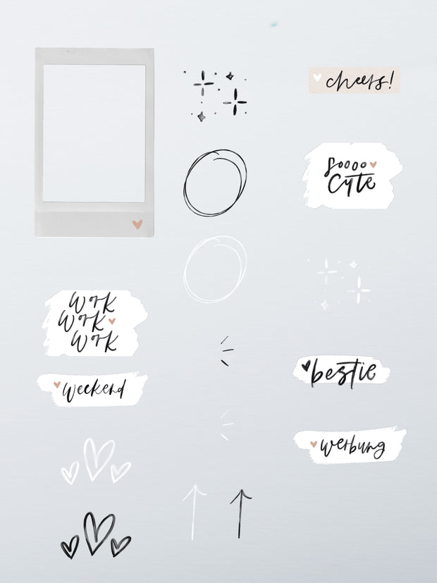 "Instagram Story Sticker ""Basic Handwritten"""