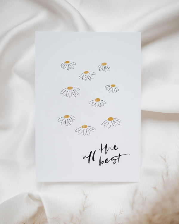 "Postkarte ""All the best"""