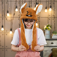 Load image into Gallery viewer, Kocozo Rabbit Hat with Moving Ears Cute Cartoon Toy Hat Airbag Kawaii Funny Toy Cap Kids Plush Toy Birthday Gift  Hat for Girls