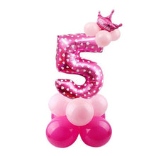 Load image into Gallery viewer, 32inch Digital Balloons Toys Kids Happy Birthday Party Theme Decor Cartoon Inflatable Party Hat Column Gift Toys for Children
