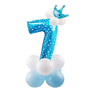 32inch Digital Balloons Toys Kids Happy Birthday Party Theme Decor Cartoon Inflatable Party Hat Column Gift Toys for Children